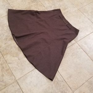 new york clothing company Skirts - New York Clothing Co Great Cond Brown Circle Skirt